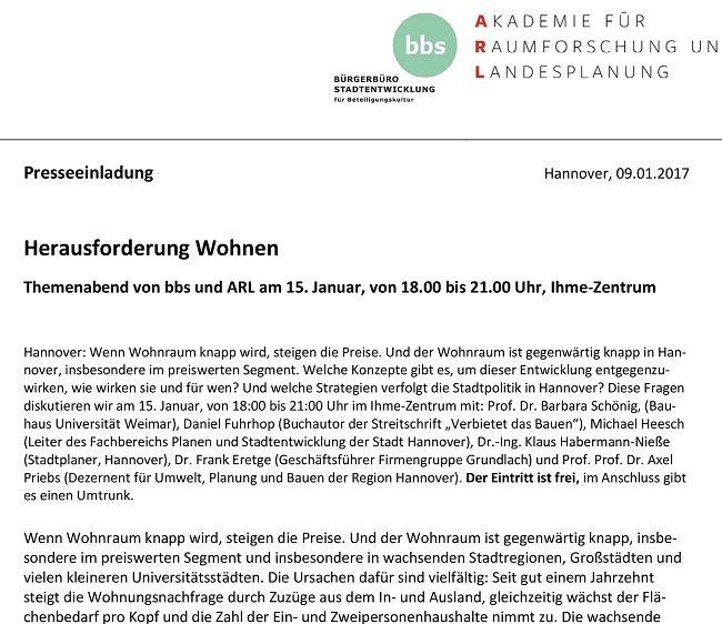 Bild Hannover-Einladung