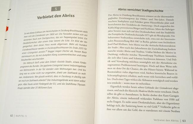 Buchfotos Abriss-Thema
