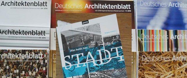 Cover Deutsches Architektenblatt und Buch