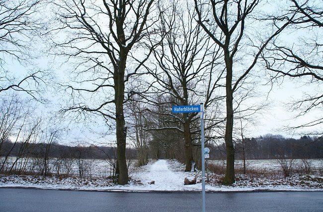 Foto Straße Haferblöcken