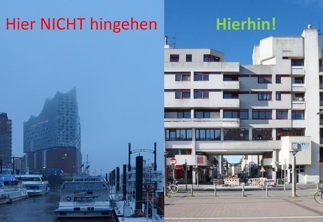 Elbphilharmonie Betonbau Doppelfoto