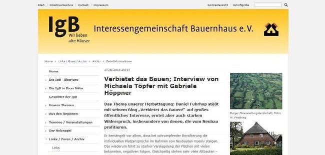 Screenshot IG Bauernhaus