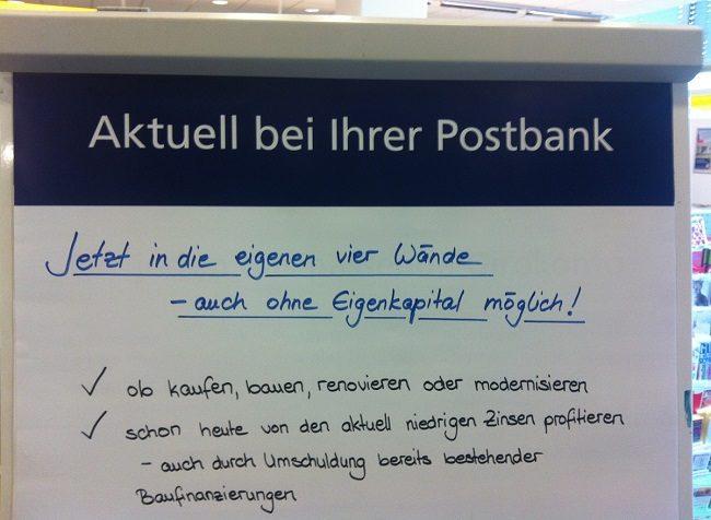 Postbank Werbung