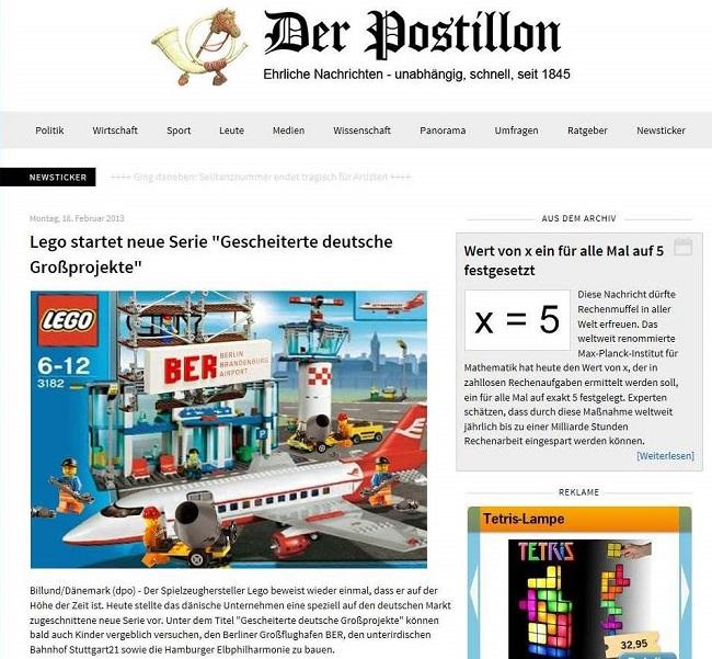 screenshot Der Postillon