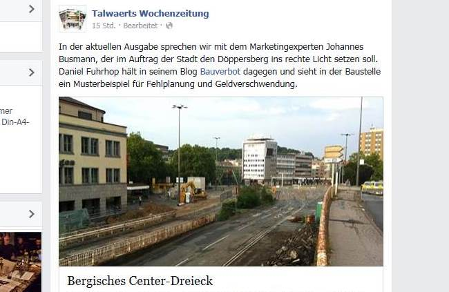Talwärts screenshot facebook