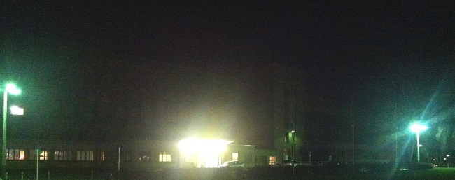 Tempelhofer Flughafen nachts