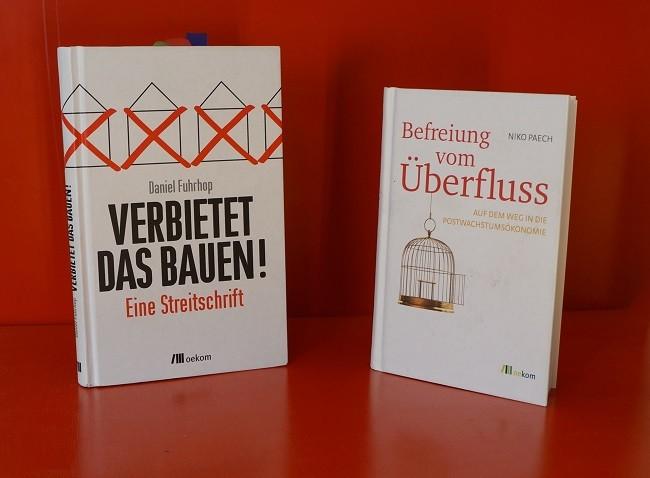 """Bücher """"Verbietet das Bauen!"""" und """"Befreiung vom Überfluss"""""""