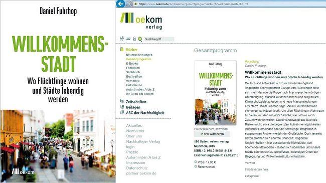 Cover und Screenshot Willkommensstadt