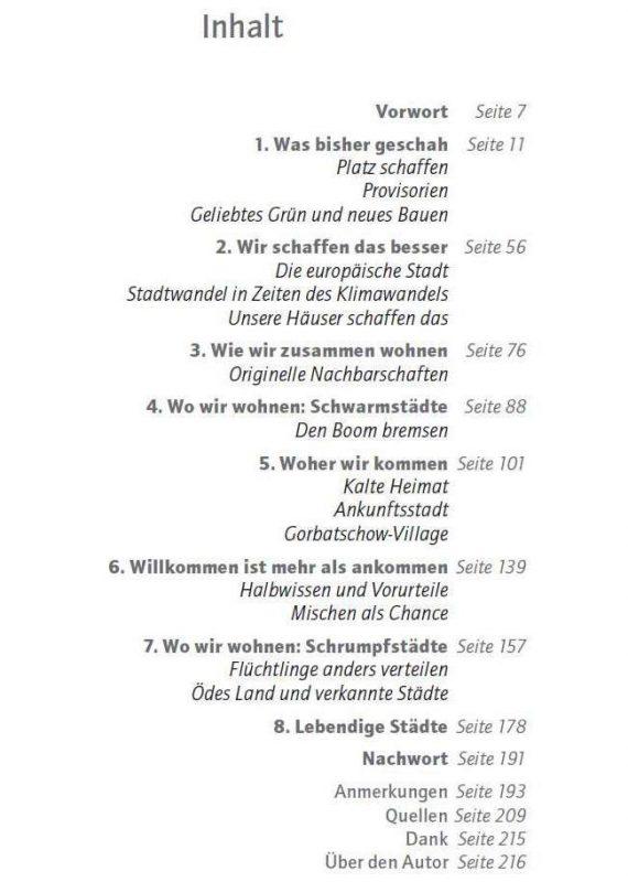 Inhaltsverzeichnis Buch Willkommenstadt