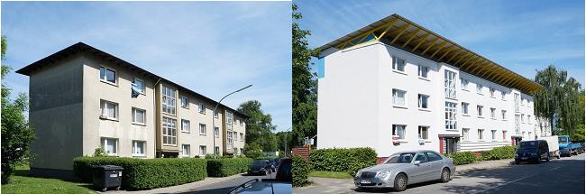 Wulsdorf vor und nach der Sanierung