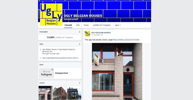 screnshot fb-Seite ugly belgian houses