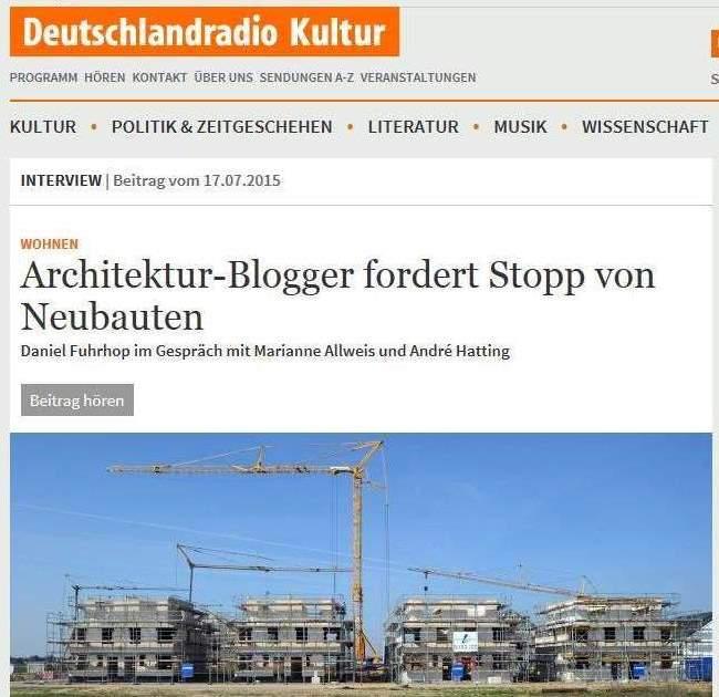 Screenshot Deutschlandradio Kultur