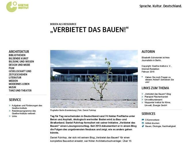 Screenshot Goethe.de