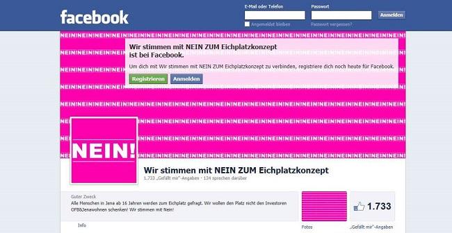 screenshot Eichplatz Center Gegner