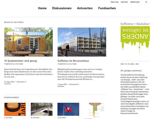 screenshot Suffizienzblog