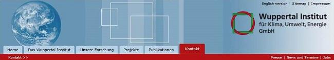 Screenshot Wuppertal Institut